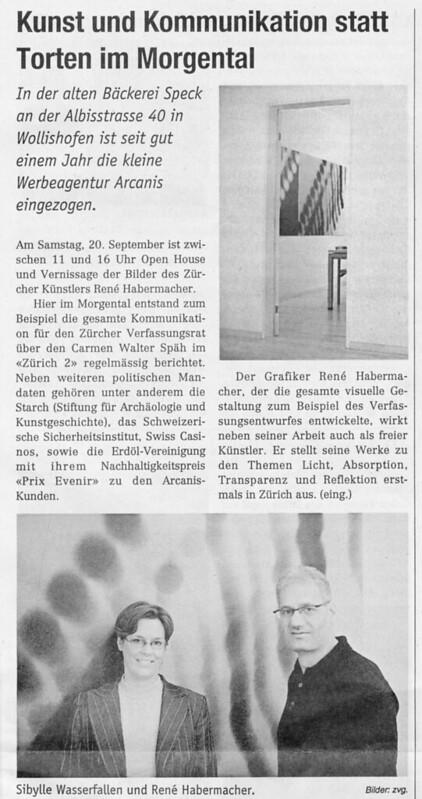 2007 – Arcanis – Wollishofer Anzeiger
