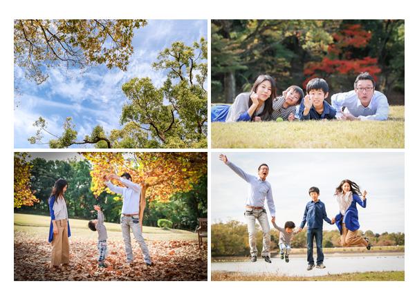 家族写真 森林公園(愛知県尾張旭市)