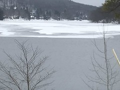 A frozen view of Deep Creek Lake