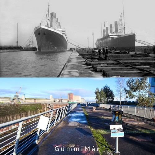 Olympic, enters Thompson Graving dock, and Titanic. 1912 - 2018 | by Guðmundur Már Karlsson