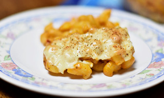 Baked Mac and Cheese with Corn serving | by anybodycanbake