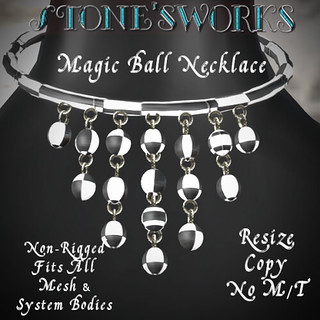 Magic Ball Necklace B&W Stone's Works | by darkstoneaeon2
