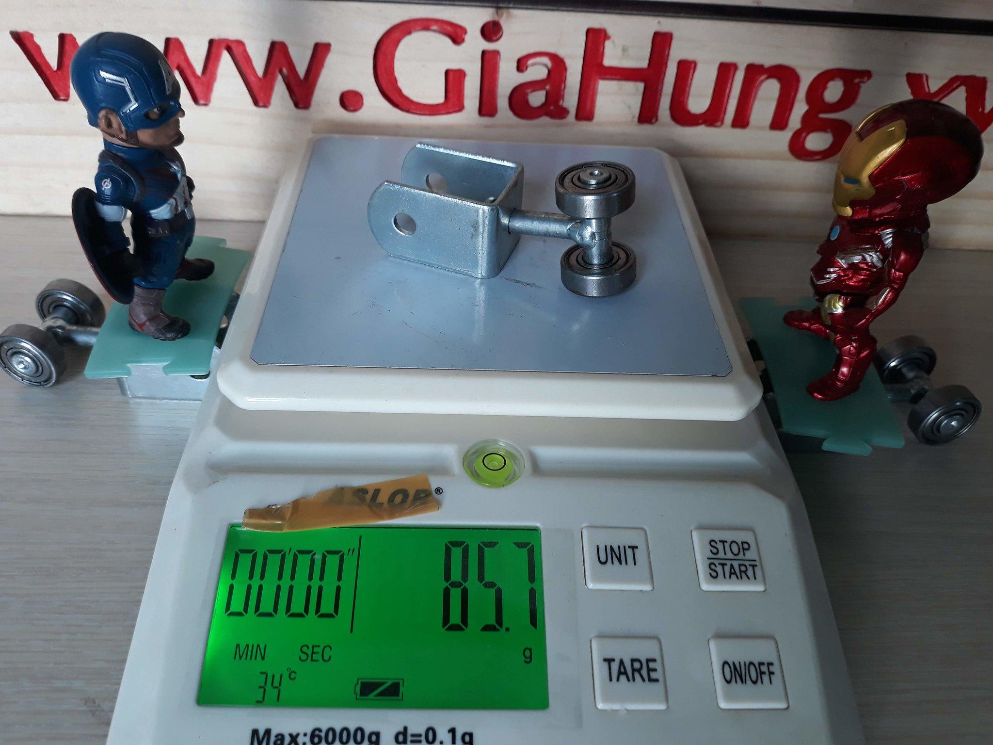 Trọng lượng của 1 chiếc bánh xe u xoay CDS-159 là 85,7gr