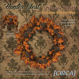 Hunter West - Pinecone Wreath - Orange Maple | by Cherelle Capra - [CIRCA] Living