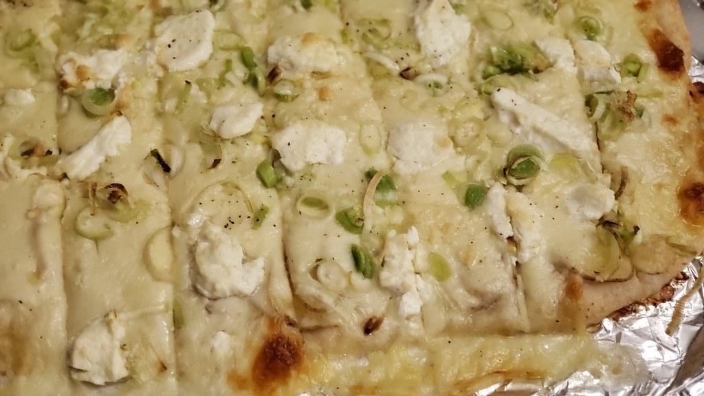 Potato, Leek Pizza 46007461242_b12fb9594f_b