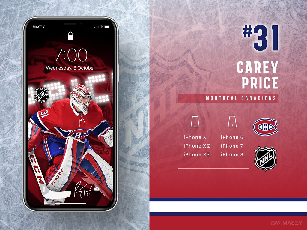 Carey Price (Montreal Canadiens) iPhone Wallpaper