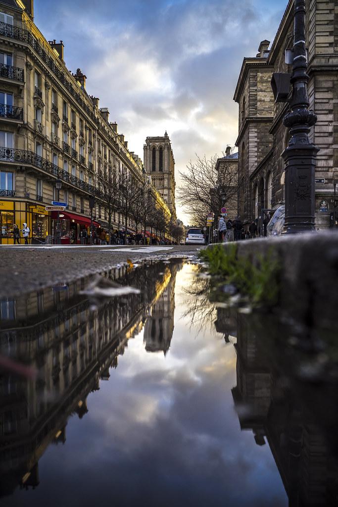 Paris france coucher de soleil sur notre dame pierre p photography flickr - Coucher de soleil sur paris ...