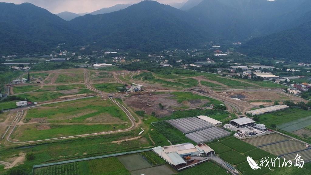 目前福興農場正在進行基礎工程。