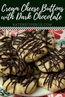 Cream Cheese Buttons with a Dark Chocoalte Drizzle | by katesrecipebox