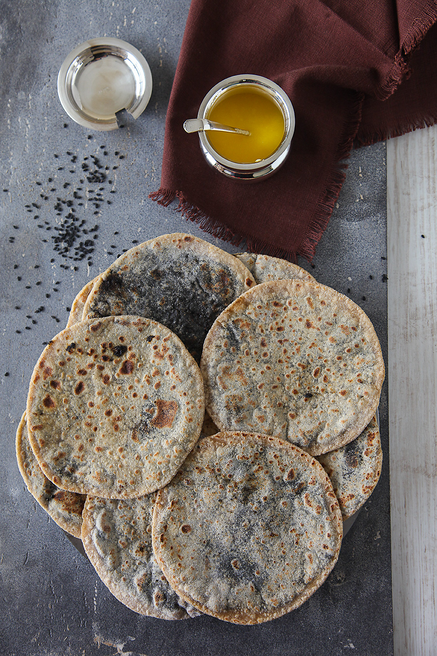 Black Sesame Whole Wheat Pancakes | Yellu Holige