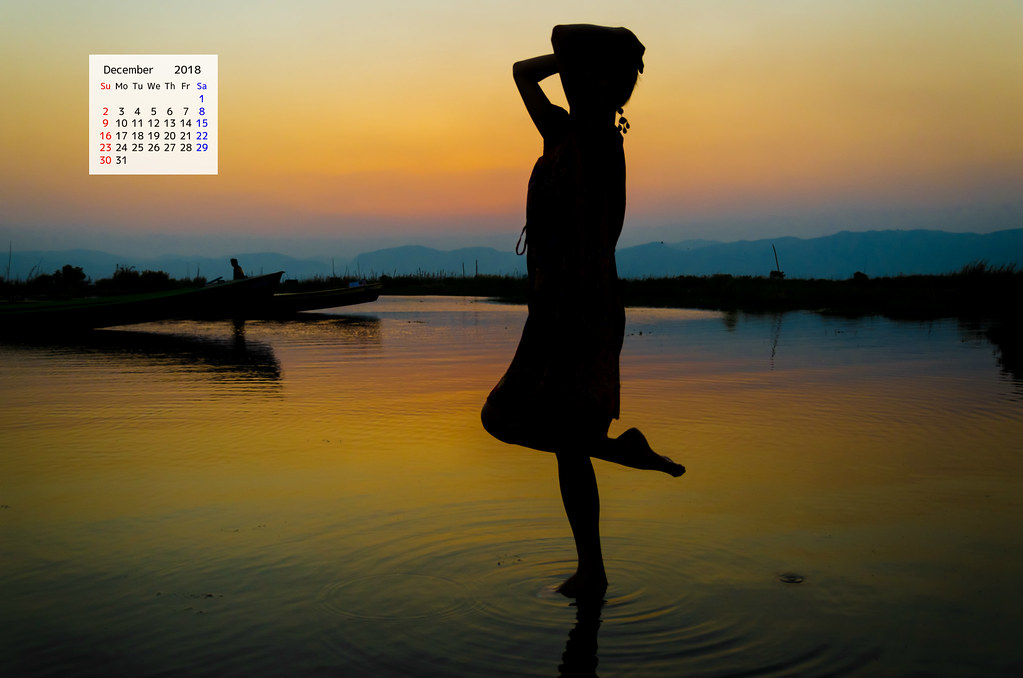 Free download November 2018 Calendar Wallpaper - Inle Lake Myanmar