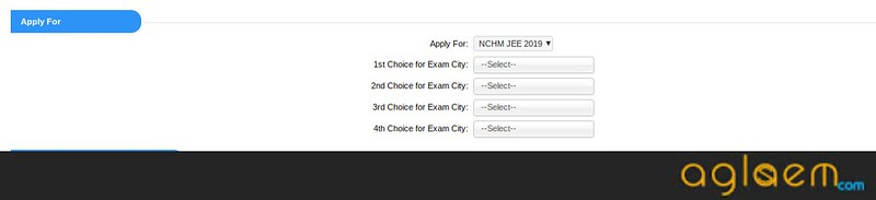 NCHMCT JEE 2019 Test City Preference