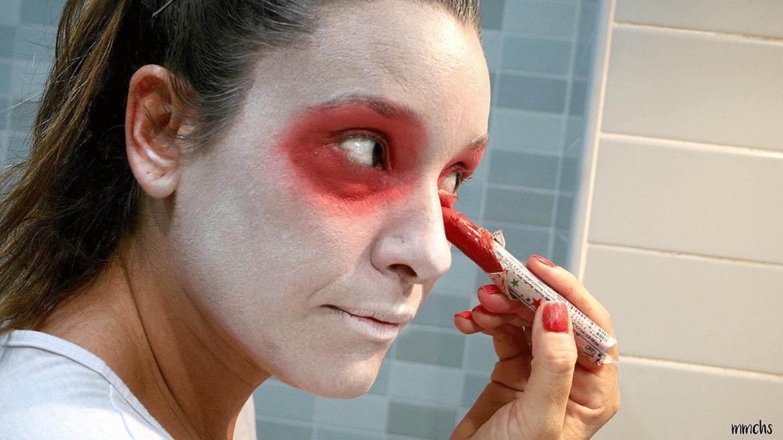 maquillaje de momia casero