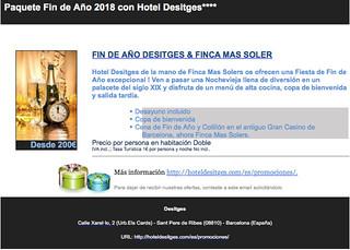 Fin de Año Hotel Desitges+Finca Mas Solers