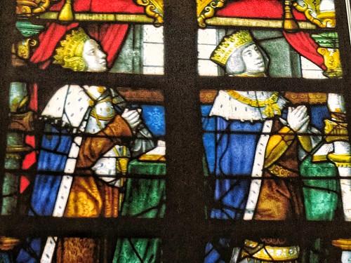 Juana y Felipe en las vidrieras de San Gumaro en Lier (Flandes)