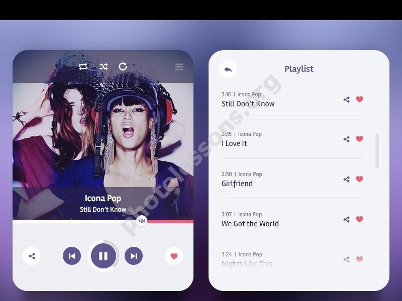 Download for Photoshop music player for smartphones