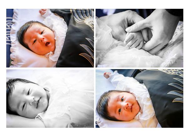お宮参り 1か月の赤ちゃん 名古屋へ出張撮影