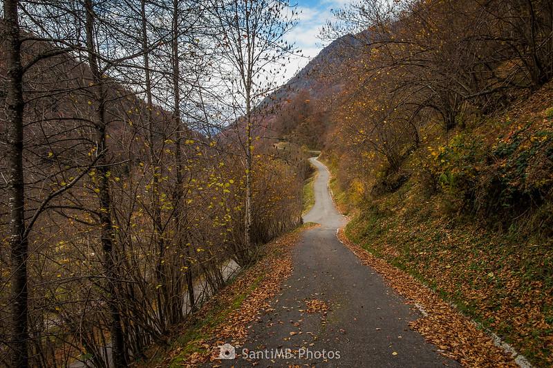 Carretera de Eth Pradet llegando a la de Sant Joan de Toran