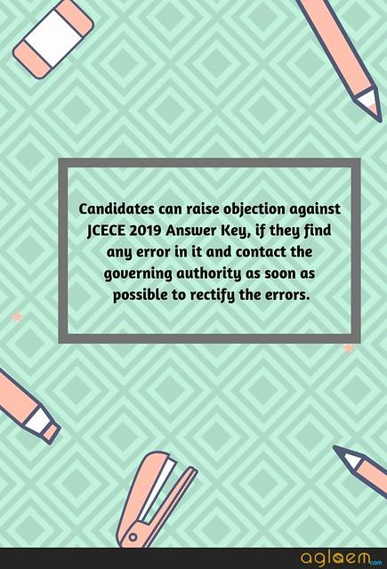 JCECE 2019 Answer Key