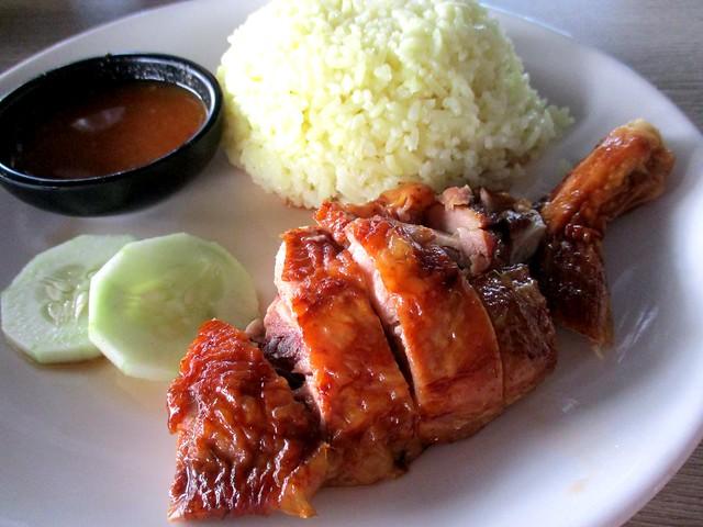 Smoked drumstick chicken rice