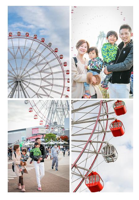 刈谷ハイウェイオアシスで家族写真 観覧車 愛知県刈谷市