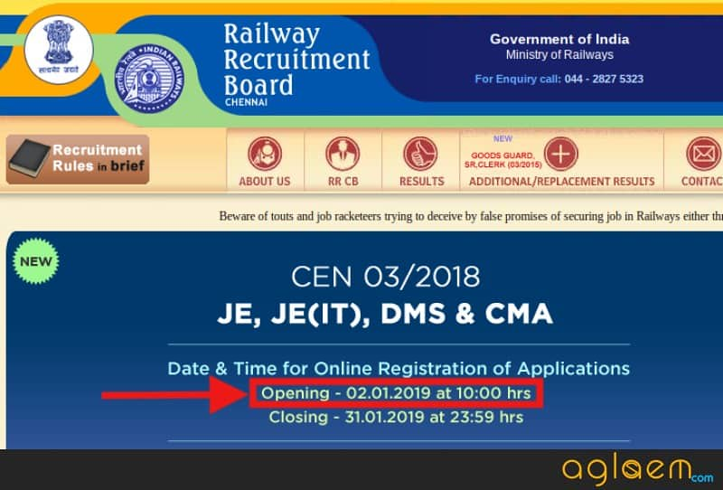 RRB JE Application Form 2019 Releasing at 10:00 AM, on 2 Jan; Candidates Can Choose only 1 Exam Group