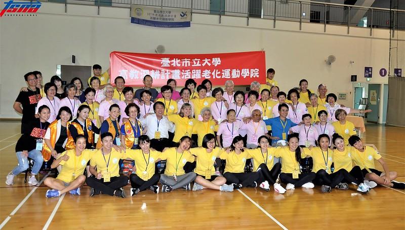 活躍老化運動學院是專門為長者設立的運動課程。(張哲郢/攝)