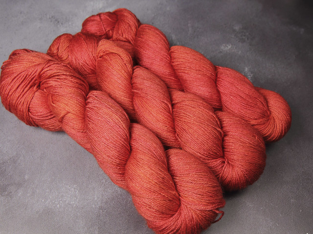Brilliance 4 Ply – British Bluefaced Leicester wool and silk hand-dyed yarn 100g – 'Magma'