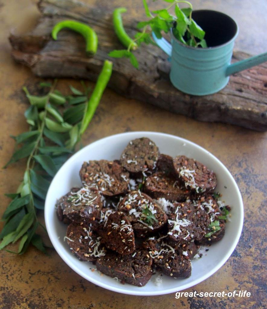 Ragi spinach Muthiya recipe - Nachni spinach Muthiya Recipe - finger millet recipes - millet recipes - tea time recipes