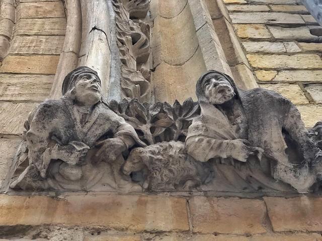 Detalle de la antigua lonja de paños, ahora universidad de Lovaina