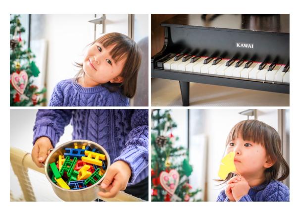 ご自宅で家族写真の出張撮影 冬 3歳の女の子