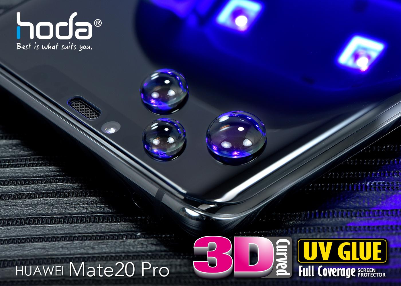 Huawei Mate20 Pro 3D UV Full Glue Curved Glass Protector   hoda®