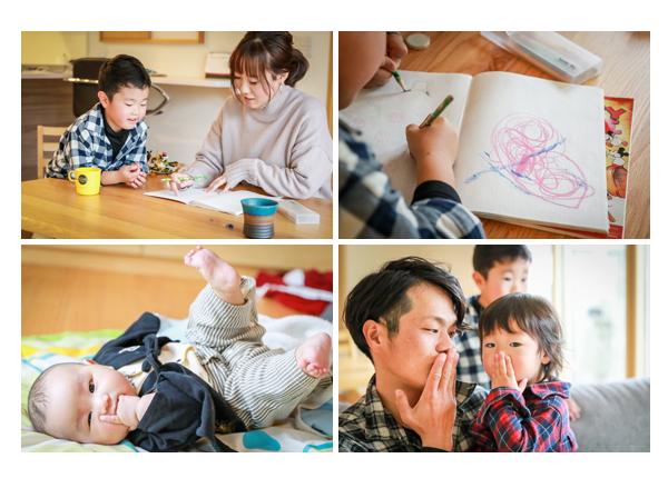 出張カメラマンが撮る自宅で家族写真
