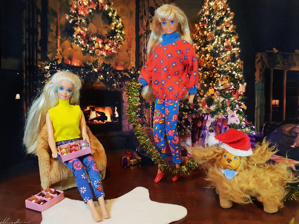 Barbie Hawaiian Fun Doll Mermaid 1991 Spaniel Pet