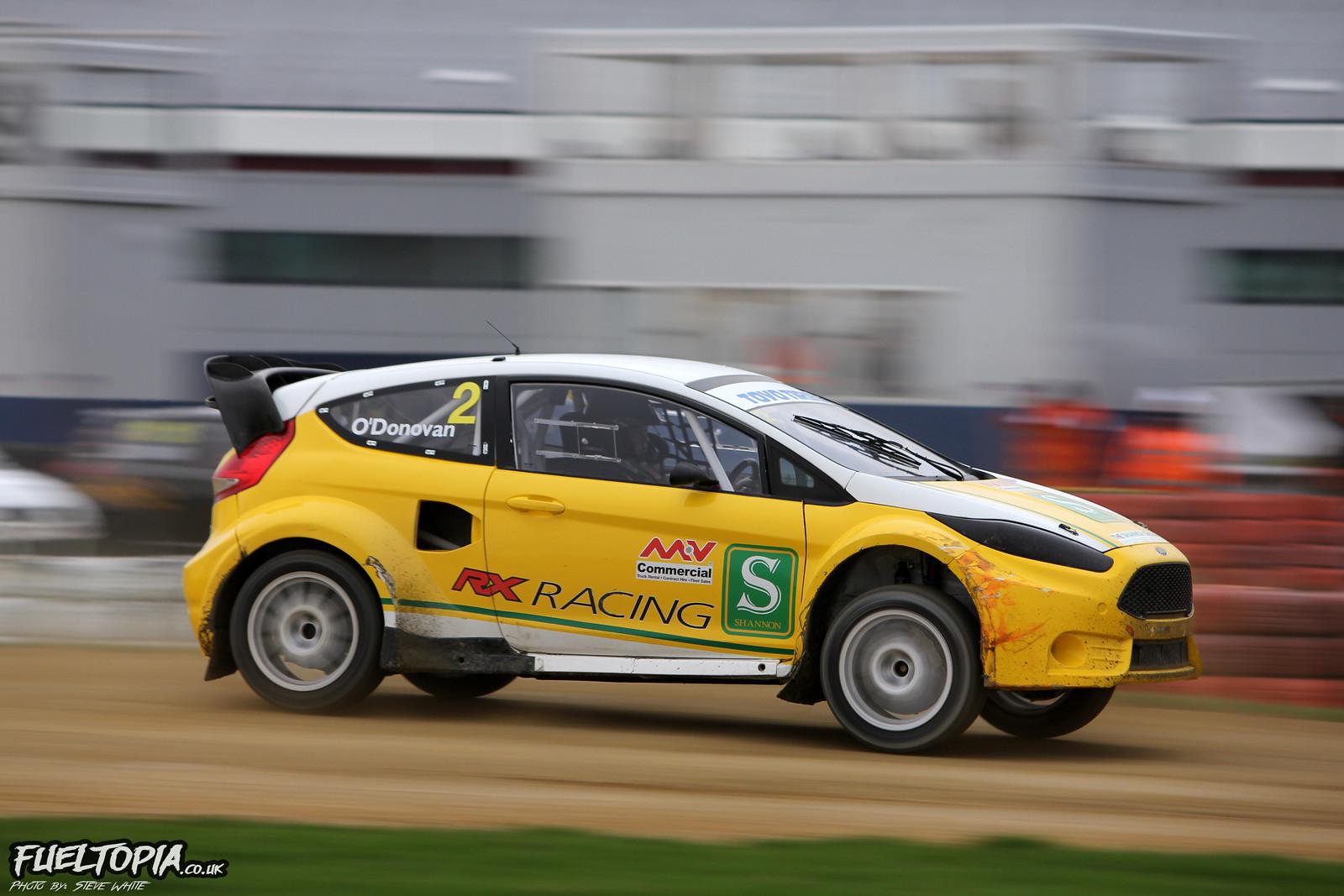 Ollie O'Donovan Ford Fiesta Silverstone BRX British Rallycross Championship 2018 Steve White Fueltopia