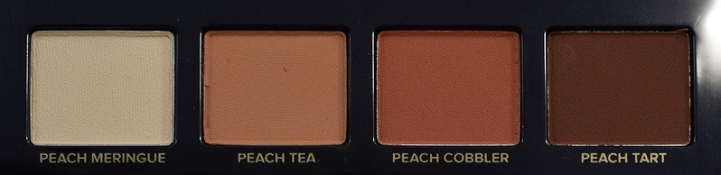 Too Faced Just Peachy Mattes Peach Meringue, Peach Tea, Peach Cobbler, Peach Tart