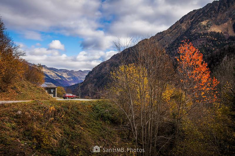 El valle de la Artiga de Lin desde el Barranc d'Aubèrt