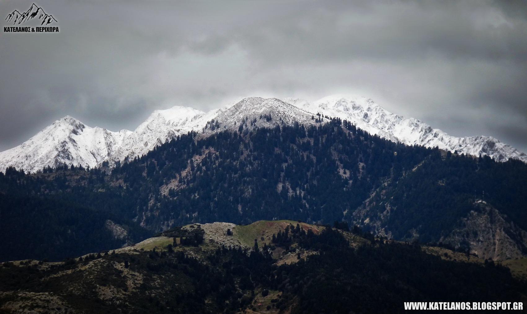 ντομη παναιτωλικο ορος πρωτα χιονια γιορλα βουνοκορφες