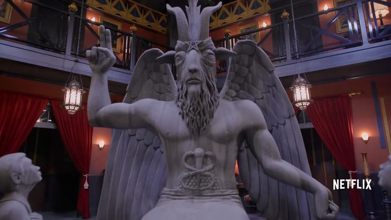 Winged Demon statue soundstage
