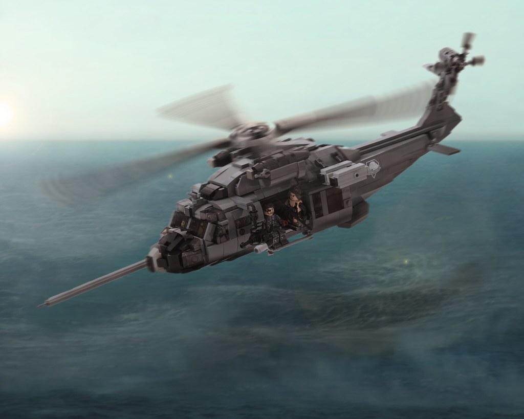 Metal Gear Solid V's Pequod UTH-66 Blackfoot in LEGO