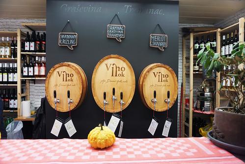 Dolac market wine