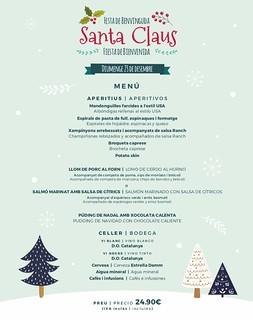 Menú Adultos Fiesta Santa Claus Sports Bar 23/12/18
