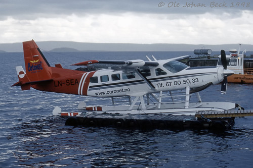 Coronet Norge Caravan LN-SEA at the Seplane base close to ENFB/FBU 18-07-1998 | by Ole Johan Beck