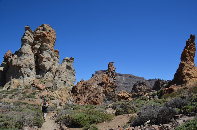 Roques de Garcia route, Teide National Park, Tenerife, Canary Islands