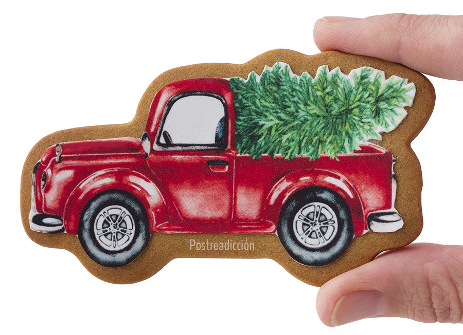 galletas de Navidad decoradas camión