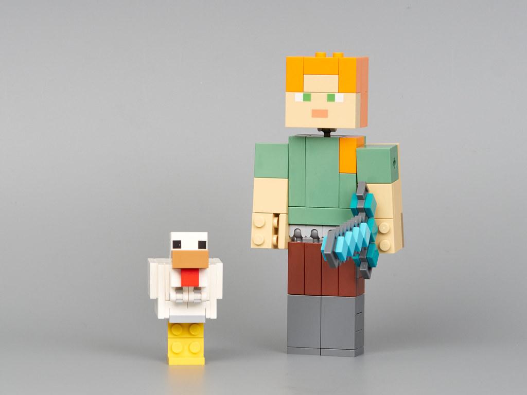Lego Minecraft 21149 Minecraft Alex Bigfig With Chicken