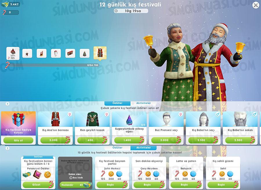 The Sims Mobile Winterfest Kış Festivali Etkinliği