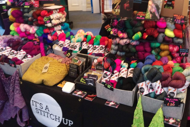 It's a Stitch Up booth at Yarnporium 2018
