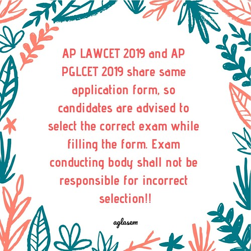 AP LAWCET 2019 Application Form (Available) - Apply Here