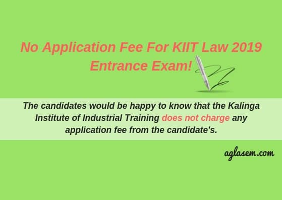 KIIT Law Entrance Exam 2019